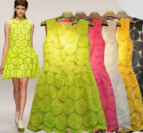 красивые платья на лето с цветовой гаммой