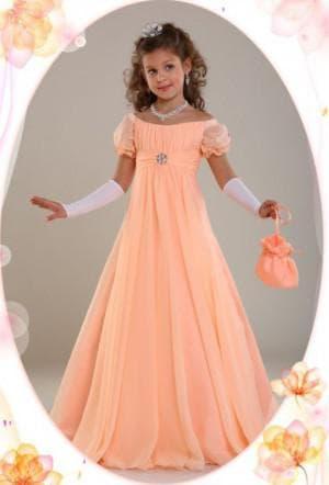 платье ампир на выпускной в садик