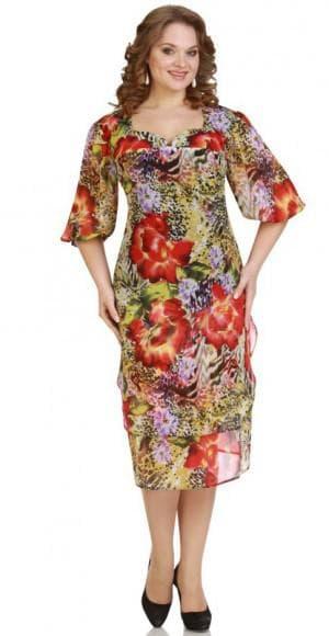 классическое летнее платье из шифона