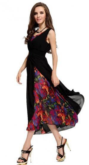 летнее платье из шифона различной расцветки