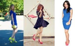 какие туфли подойдут к темно синему платью