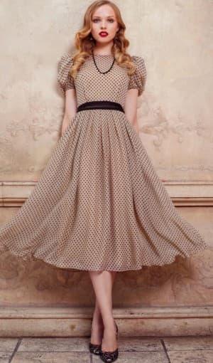 летнее платье ретро из шифона