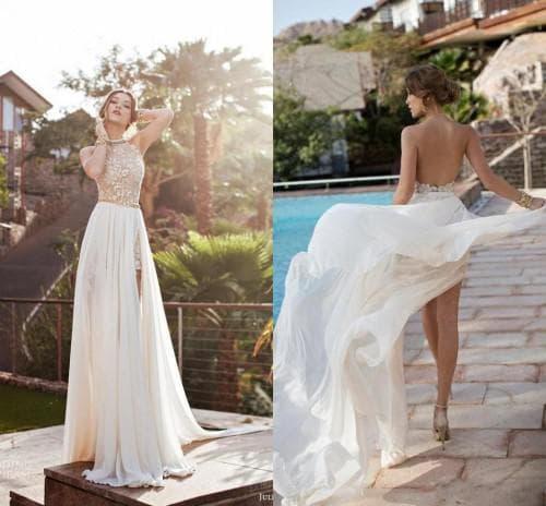 летнее свадебное платье из шифона