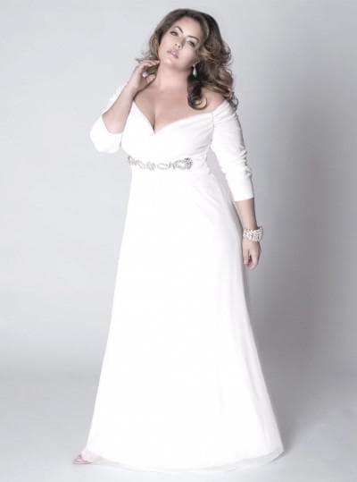 свадебные платья с рукавами для полных девушек