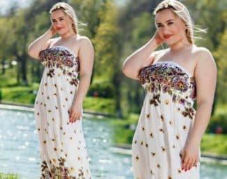 длинные платья большого размера недорого