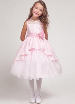 розовое платье на выпускной в садик