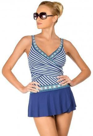 платье-купальник с короткой юбкой
