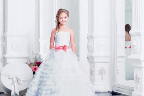 белое платье на выпускной в садик