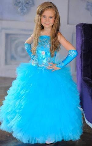 голубое платье на выпускной в садик