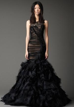 чёрное свадебное платье от Вера Вонг June