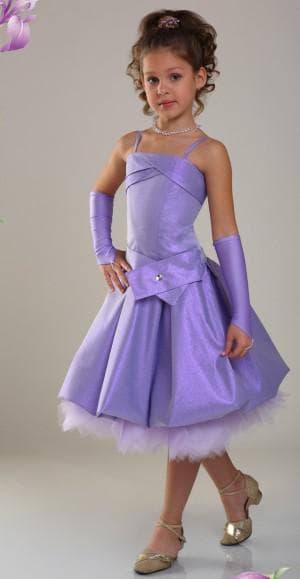 лиловое платье на выпускной в садик