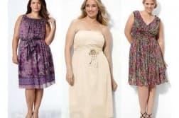 летнее платье из шифона для полных