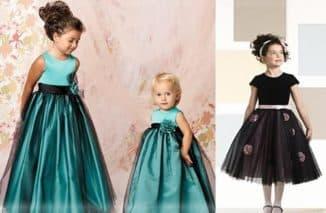 модели детских платьев