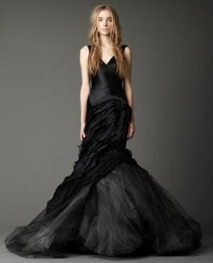 чёрное свадебное платье от Вера Вонг Janice