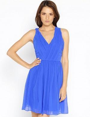 кира пластинина синие платье
