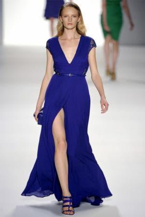 платье кобальтового цвета