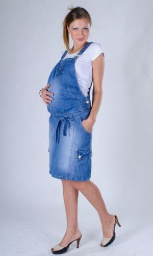 джинсовый сарафан для беременной на лето