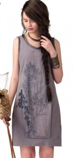 сарафан с вышивкой в стиле бохо