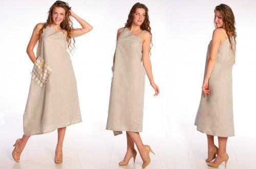 льняное платье сарафан из турции