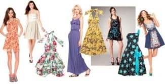 красивые фасоны летних платьев