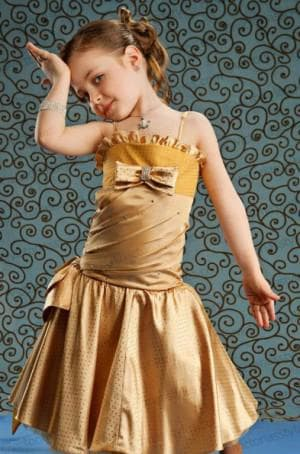золотое платье на выпускной в садик