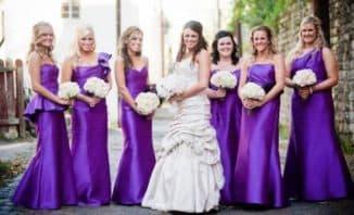 свадебные платья фиолетового цвета