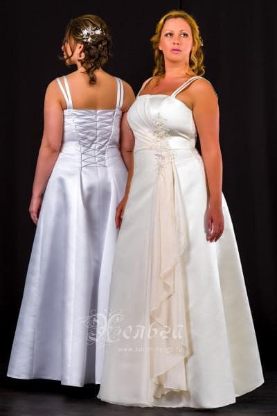 свадебные платья большого размера от Хельга