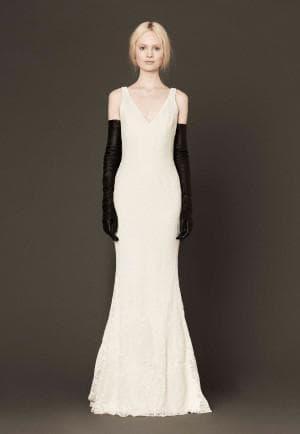 бело чёрное свадебное платье от Вера Вонг Mallory
