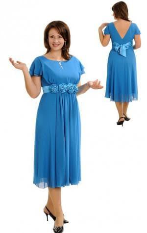 летние платья с выделенной талией 52 размера