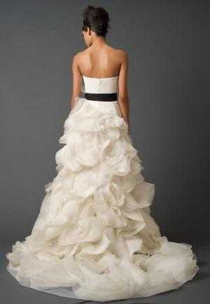 бело чёрное свадебное платье от Вера Вонг Ghilian
