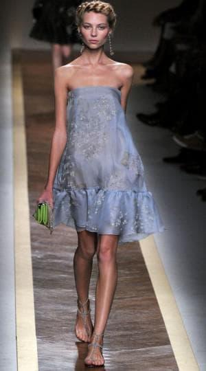 летнее платье из шифона от Валентино