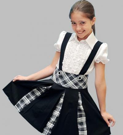 детский сарафан разлетайка в школу