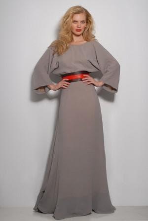 приталенное платье из набивного шелка с рукавами 3 четверти