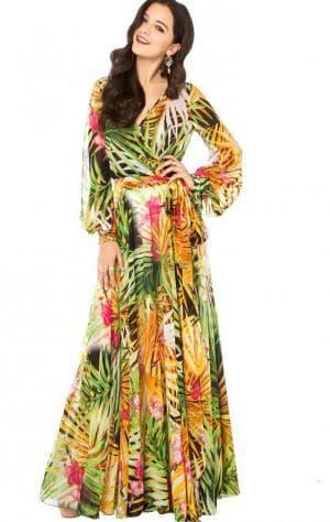летнее платье макси из шифона