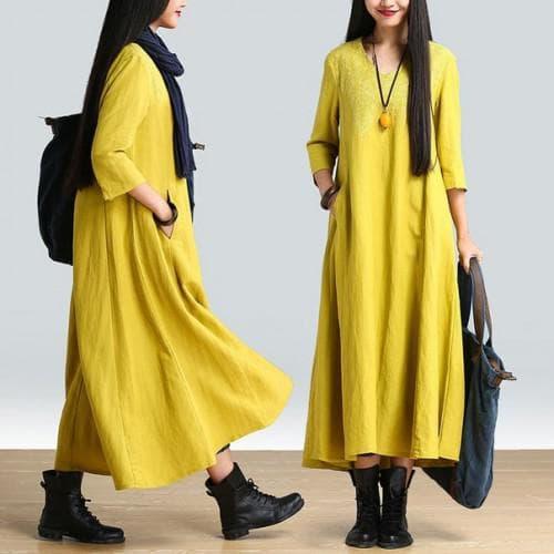 простое платье бохо