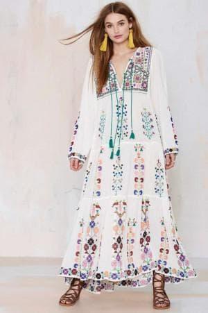 платье бохо из натуральных тканей