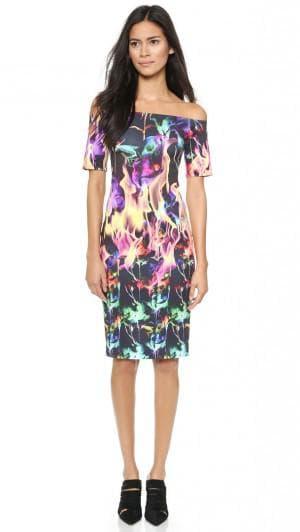платье с цветами от Clover Canyon