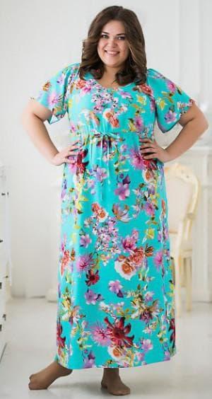 нарядное балонное платье из штапеля для полных