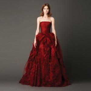 красное свадебное платье от Вера Вонг Kendall