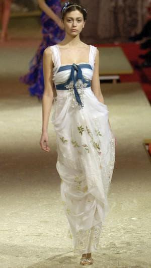 летнее платье из шифона от Кристианы Лакруа