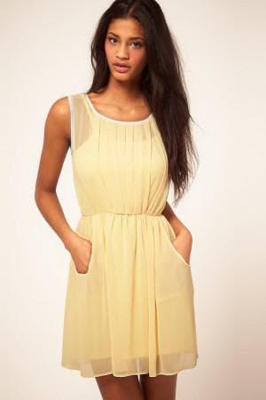 обычное летнее платье из шифона