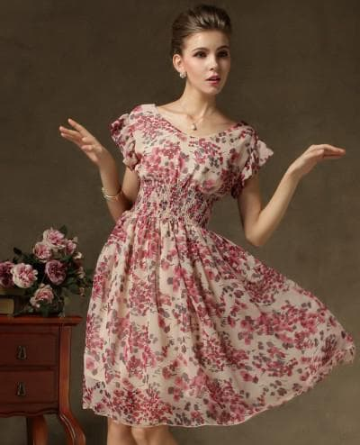 летнее платье из шифона от Екатерины Смолиной