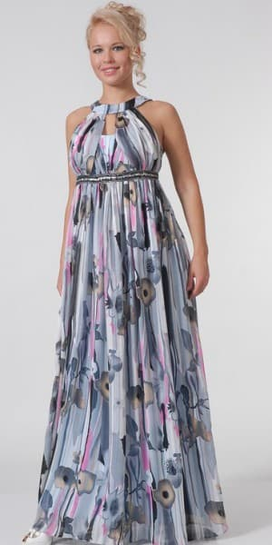нарядное платье в греческом стиле из штапеля для полных