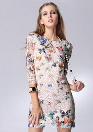 платье с цветами от Hinge