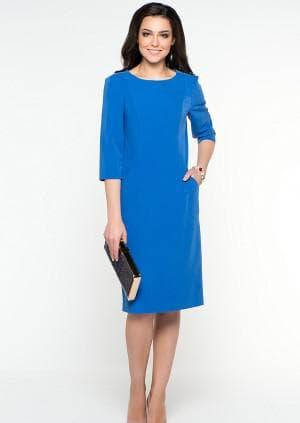 деловое платье синего цвета