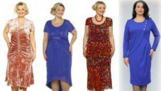 модели летних платьев 52 размера