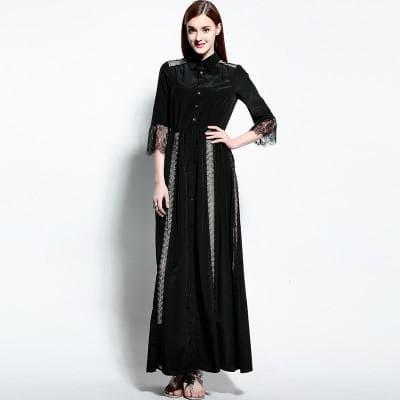 Платье-рубашка максимальной длины на выпускной