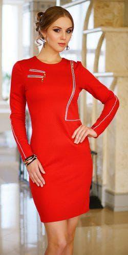 платье из трикотажа с длинным рукавом Luzana