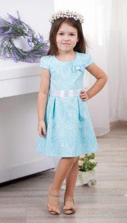 детские платья из жаккарда