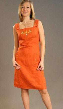 платье сарафан из льна на лето